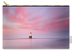 Carry-all Pouch featuring the photograph Lighthouse Sunset by Grant Glendinning