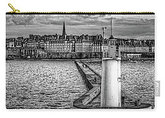 Carry-all Pouch featuring the photograph Lighthouse Walkway by Elf Evans