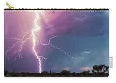 Carry-all Pouch featuring the photograph Lightning Dancer by Rick Furmanek