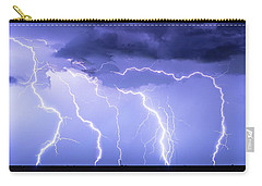Lightning On The Plains Carry-all Pouch