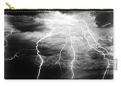 Lightning Storm Over The Plains Carry-all Pouch by Joseph Frank Baraba