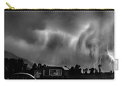 Lightning Storm Over The Snake River Ranch, Wyoming Carry-all Pouch by Wernher Krutein