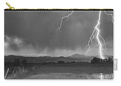 Lightning Striking Longs Peak Foothills 5bw Carry-all Pouch by James BO  Insogna