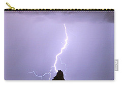 Lightning Striking Pinnacle Peak Scottsdale Az Carry-all Pouch