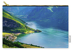 Lights And Shadows Of Sognefjord Carry-all Pouch