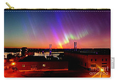 Carry-all Pouch featuring the photograph Lights On The Horizon by Justin Moore