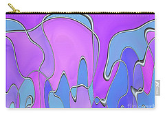 Carry-all Pouch featuring the digital art Lignes En Folie - 03a by Variance Collections