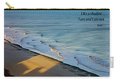 Carry-all Pouch featuring the photograph Like A Shadow by Rhonda McDougall