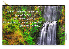Like A Spring Whose Water Never Fails - From Isaiah 58.11 - Multnomah Falls #41 - Oregon Carry-all Pouch