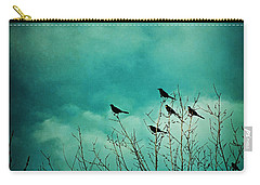 Carry-all Pouch featuring the photograph Like Birds On Trees by Trish Mistric