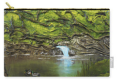 Carry-all Pouch featuring the mixed media Like Ducks On Water by Angela Stout