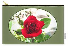 Carry-all Pouch featuring the photograph Like Red Velvet - Garden Rose by Brooks Garten Hauschild