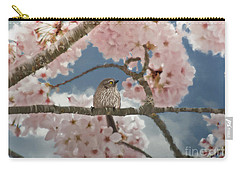 Lil Bushtit Carry-all Pouch by Beve Brown-Clark Photography