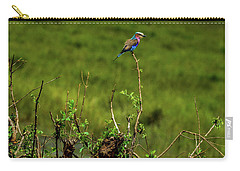 Lilac-breasted Roller On Bush Carry-all Pouch