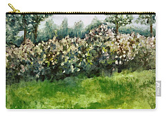 Lilac Bushes In Springtime Carry-all Pouch by Michelle Calkins