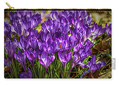 Carry-all Pouch featuring the photograph Lilac Crocus #g2 by Leif Sohlman