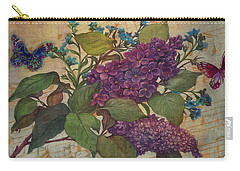 Lilac Dreams Illustrated Butterfly Carry-all Pouch