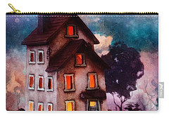Carry-all Pouch featuring the painting Lilac Hill by Mo T