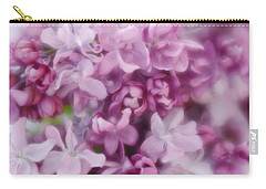 Carry-all Pouch featuring the photograph Lilac - Lavender by Diane Alexander