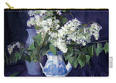 Lilacs And Blue Carry-all Pouch