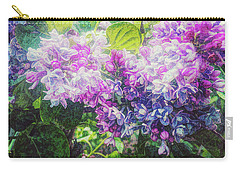 Carry-all Pouch featuring the photograph Lilacs Expression by Anna Louise