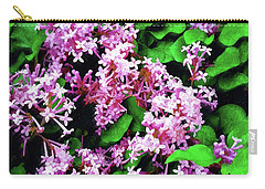 Carry-all Pouch featuring the painting Lilacs In May by Sandy MacGowan