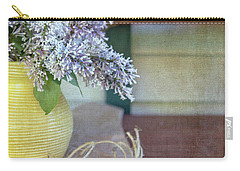 Lilacs In Yellow Vase Carry-all Pouch