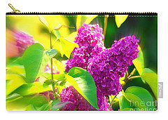 Carry-all Pouch featuring the photograph Lilacs by Susanne Van Hulst