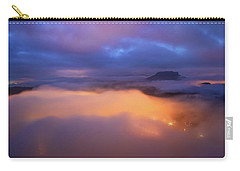 Lilienstein Night View, Saxon Switzerland, Germany Carry-all Pouch