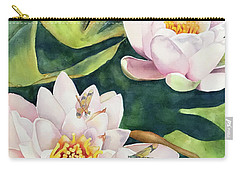 Lilies And Dragonflies Carry-all Pouch