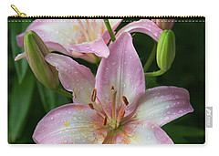 Lilies And Raindrops Carry-all Pouch