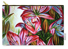 Carry-all Pouch featuring the painting Lilies by Harsh Malik