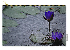Carry-all Pouch featuring the photograph Lilies In The Rain by Amee Cave
