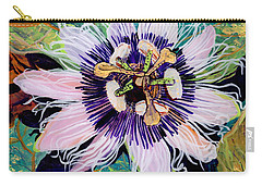 Carry-all Pouch featuring the painting Lilikoi by Marionette Taboniar