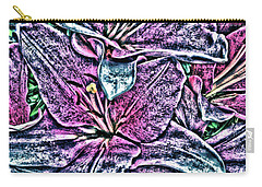 Lillies Carry-all Pouch by Vickie G Buccini