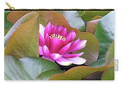 Lilly In Bloom Carry-all Pouch by Wendy McKennon
