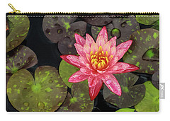 Lilly Pad, Red Lilly Carry-all Pouch