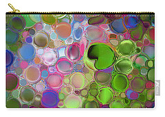 Carry-all Pouch featuring the digital art Lilly Pond by Loxi Sibley