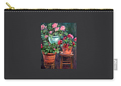 Lil's Geraniums Carry-all Pouch by Jill Musser