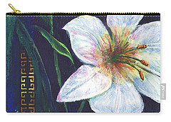 Carry-all Pouch featuring the painting Lily by Alga Washington