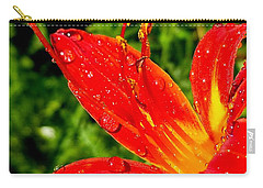 Lily And Raindrops Carry-all Pouch