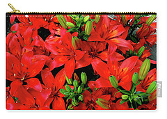 Carry-all Pouch featuring the photograph Lily Blossoms by LeeAnn McLaneGoetz McLaneGoetzStudioLLCcom
