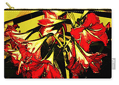 Carry-all Pouch featuring the digital art Lily Gem by Winsome Gunning