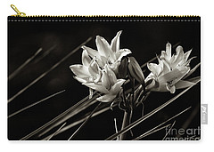 Lily In Monochrome Carry-all Pouch by Nicholas Burningham