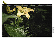 Carry-all Pouch featuring the photograph Lily In The Garden Of Shadows by Marco Oliveira