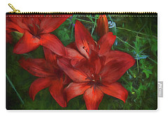 Carry-all Pouch featuring the photograph Lily Light by Kathy Bassett