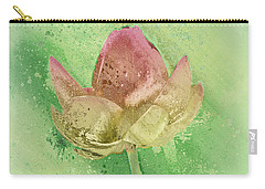 Carry-all Pouch featuring the mixed media Lily My Lovely - S112sqc88 by Variance Collections