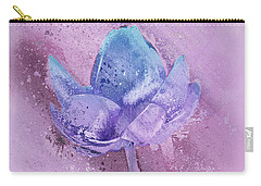 Carry-all Pouch featuring the digital art Lily My Lovely - S113sqc77 by Variance Collections
