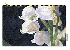 Carry-all Pouch featuring the painting Lily Of The Valley by Lynne Reichhart