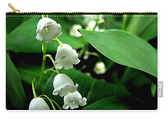 Lily Of The Valley  Carry-all Pouch by Michelle Calkins